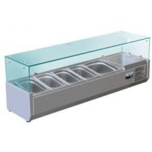 Vitrina refrigerada sobre encimera